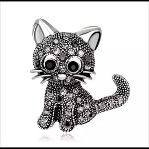 Vintage Style Kitty Brooch - New